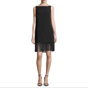 Elizabeth & James | Black Ekon Fringe Shift Dress